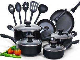 Cook N Home 15 Piece Cookware Set
